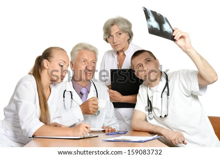 best team of doctors at work - stock photo