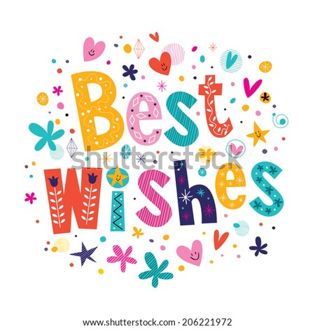 Best Wishes - stock photo