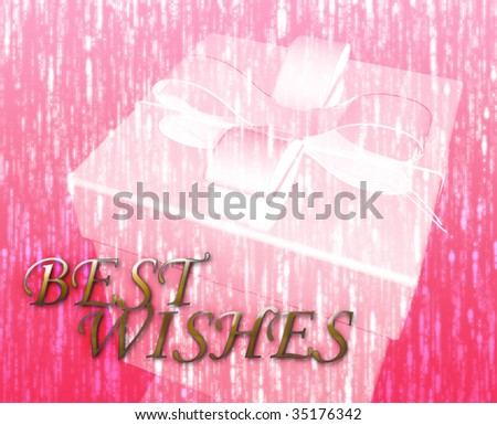 Best wishes festive special occasion celebration abstract illustration - stock photo