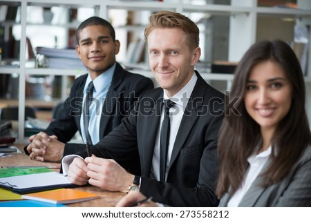 Best workers on the Earth. They team and can make business - stock photo