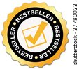 Bestseller sticker - stock photo