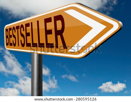 bestseller top product, most wanted item sales promotion best seller book best value - stock photo