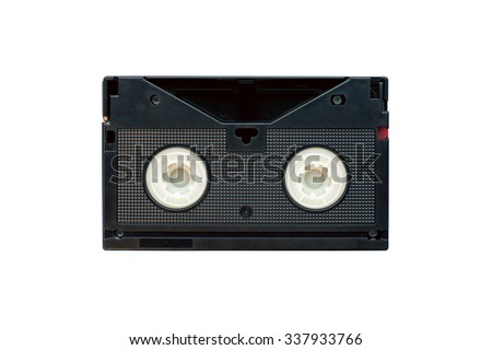 Betacam SP video cassette back view - stock photo
