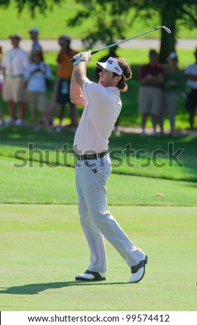 BETHESDA, MD - JUNE 13: Bubba Watson hits a shot at Congressional during the 2011 US Open on June 13, 2011 in Bethesda, MD.