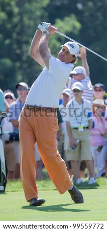 BETHESDA, MD - JUNE 14: Phil Michelson at Congressional during the 2011 US Open on June 14, 2011 in Bethesda, MD. - stock photo