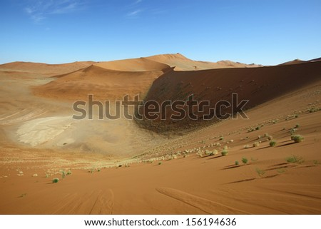 Between the dunes at Sossusvlei