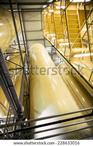 beverage container, staircase - stock photo