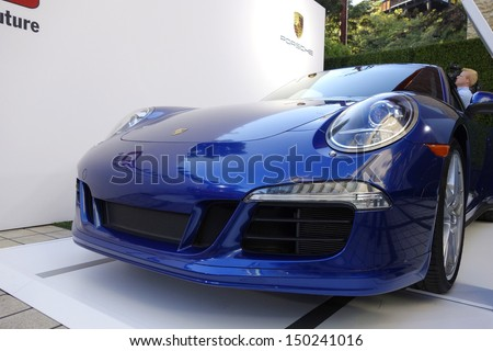 BEVERLY HILLS - AUG 15: Atmosphere, Porsche  at a summer celebration hosted by Delta Air Lines at a private residence on August 15, 2013 in Beverly Hills, California