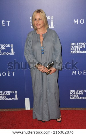 BEVERLY HILLS, CA - AUGUST 14, 2014: Actress Patricia Arquette at the Hollywood Foreign Press Association's annual Grants Banquet at the Beverly Hilton Hotel.  - stock photo