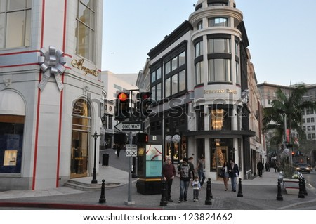 Rodeo Drive Shopping Stock Images Royalty Free Images