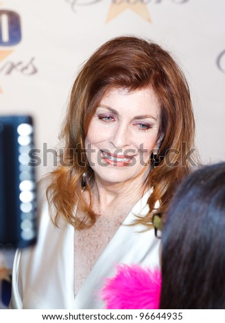 BEVERLY HILLS, CA - FEB. 26: Actress Joanna Cassidy arrives for Norby Walters' 22nd Annual Night Of 100 Stars event held at The Beverly Hills Hotel on February 26, 2012 in Beverly Hills, California. - stock photo