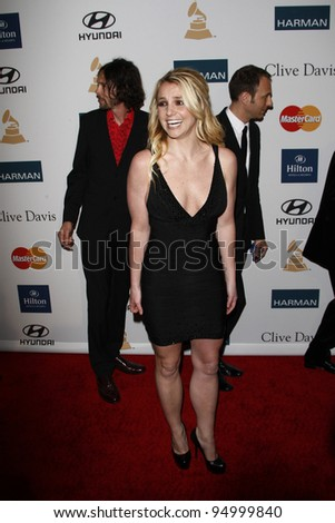 BEVERLY HILLS, CA - FEB 11: Britney Spears at the Clive Davis and the Recording Academy's 2012 Pre-GRAMMY Gala on February 11, 2012 in Beverly Hills, California - stock photo