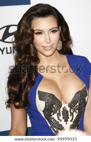 BEVERLY HILLS, CA - FEB 11: Kim Kardashian at the Clive Davis and the Recording Academy's 2012 Pre-GRAMMY Gala on February 11, 2012 in Beverly Hills, California - stock photo