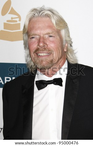 BEVERLY HILLS, CA - FEB 11: Richard Branson at the Clive Davis and the Recording Academy's 2012 Pre-GRAMMY Gala on February 11, 2012 in Beverly Hills, California - stock photo
