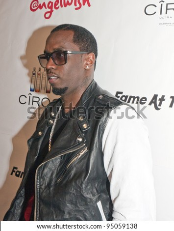 BEVERLY HILLS, CA - FEBRUARY 12: Sean Combs (P. Diddy) attends the Grammy after party at the Playboy Mansion on February 12, 2012 in Beverly Hills, California. (Photo by Jonathan S. Nowak) - stock photo