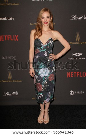 BEVERLY HILLS, CA - JAN. 10: Jaime Ray Newman arrives at the Weinstein Company and Netflix 2016 Golden Globes After Party on Sunday, January 10, 2016 at the Beverly Hilton Hotel in Beverly Hills, CA.  - stock photo