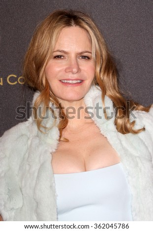 BEVERLY HILLS, CA - JAN. 10: Jennifer Jason Leigh arrives at the Weinstein Company and Netflix 2016 Golden Globes After Party on Sunday, Jan. 10, 2016 at the Beverly Hilton Hotel, Beverly Hills, CA.  - stock photo