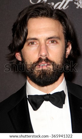 BEVERLY HILLS, CA - JAN. 10: Milo Ventimiglia arrives at the Weinstein Company and Netflix 2016 Golden Globes After Party on Sunday, January 10, 2016 at the Beverly Hilton Hotel in Beverly Hills, CA.  - stock photo