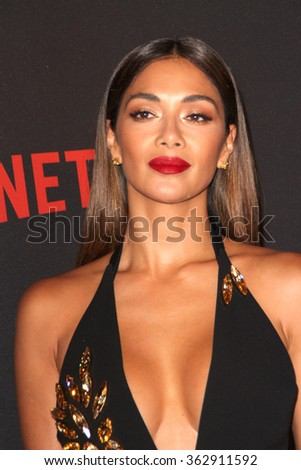 BEVERLY HILLS, CA - JAN. 10: Nicole Scherzinger arrives at the Weinstein Company and Netflix 2016 Golden Globes After Party, Jan. 10, 2016 at the Beverly Hilton Hotel in Beverly Hills, CA.  - stock photo