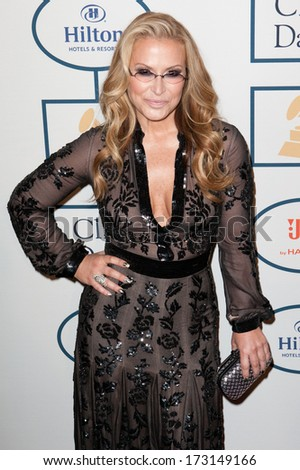 BEVERLY HILLS, CA. - JANUARY 25: Anastacia arrives at the Clive Davis and The Recording Academy annual Pre-GRAMMY Gala on January 25th 2014 at the Beverly Hilton in Beverly Hills, California. - stock photo