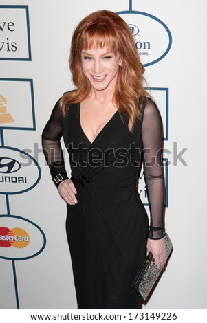 BEVERLY HILLS, CA. - JANUARY 25: Kathy Griffin arrives at the Clive Davis and The Recording Academy annual Pre-GRAMMY Gala on January 25th 2014 at the Beverly Hilton in Beverly Hills, California. - stock photo