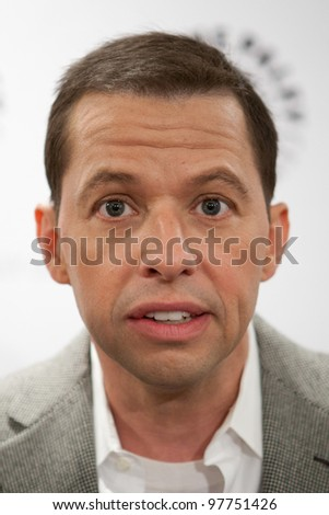 BEVERLY HILLS, CA - MARCH 12: Jon Cryer goofs around with us at Paley Fest 2012 at the Saban Theatre on March 12, 2012 in Beverly Hills, California. - stock photo
