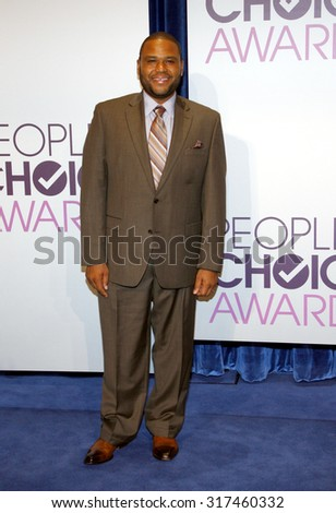 BEVERLY HILLS, CA - NOVEMBER 15, 2012: Anthony Anderson at the People's Choice Awards 2013 Nominations held at the Paley Center in Beverly Hills, USA on November 15, 2012. - stock photo