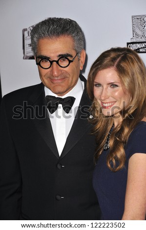 BEVERLY HILLS, CA - NOVEMBER 15, 2012: Eugene Levy & daughter Sarah at the 26th Annual American Cinematheque Awards Ceremony honoring Ben Stiller at the Beverly Hilton Hotel. - stock photo