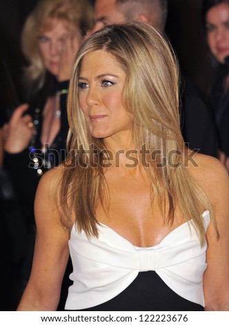 BEVERLY HILLS, CA - NOVEMBER 15, 2012: Jennifer Aniston at the 26th Annual American Cinematheque Awards Ceremony honoring actor Ben Stiller at the Beverly Hilton Hotel. - stock photo