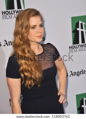 BEVERLY HILLS, CA - OCTOBER 22, 2012: Amy Adams at the 16th Annual Hollywood Film Awards at the Beverly Hilton Hotel.