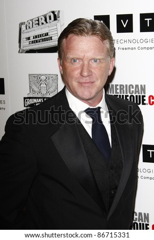 BEVERLY HILLS, CA - OCTOBER 14: Anthony Michael Hall at the 25th American Cinematheque Award Honoring Robert Downey Jr held at The Beverly Hilton hotel on October 14, 2011 in Beverly Hills, California