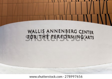 BEVERLY HILLS, CA/USA - MAY 10, 2015: The Wallis Annenberg Center for the Performing Arts. The Annenberg Center is a community arts center in Beverly Hills. - stock photo
