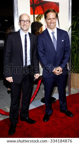 """BEVERLY HILLS, CALIFORNIA - November 15, 2011. Jim Rash and Nat Faxon at the Los Angeles Premiere of """"The Descendants"""" held at the AMPAS Samuel Goldwyn Theater, Los Angeles.  - stock photo"""