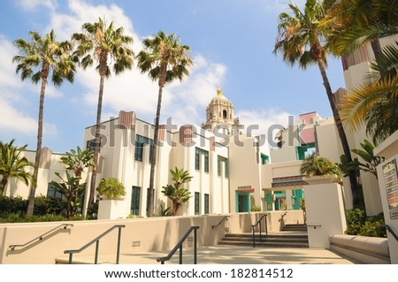 Beverly Hills City Hall in southern California - stock photo