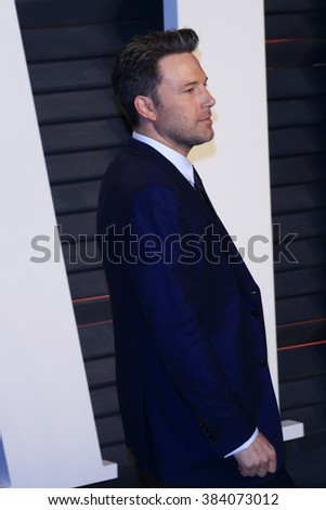 BEVERLY HILLS - FEB 28: Ben Affleck at the 2016 Vanity Fair Oscar Party on February 28, 2016 in Beverly Hills, California - stock photo