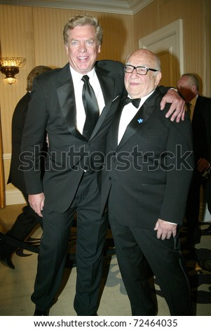 BEVERLY HILLS - FEB. 27:Christopher McDonald & Ed Asner arrive at the Norby Walters 21st Annual Night of 100 Stars Oscar Viewing Party on Feb. 27, 2011 at the Beverly Hills Hotel in Beverly Hills, CA.