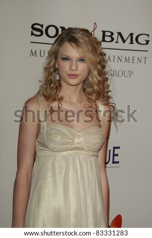 BEVERLY HILLS - FEB 9: Taylor Swift at the Clive Davis Pre-GRAMMY Party 2008 held at the Beverly Hilton Hotel in Beverly Hills, California on February 9, 2008 - stock photo