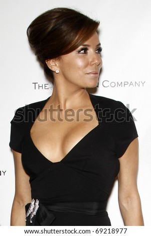 BEVERLY HILLS - JAN 16: Eva Longoria arrives at The Weinstein Company And Relativity Media's 2011 Golden Globe Awards Party at Beverly Hilton Hotel on January 16, 2011 in Beverly Hills, CA - stock photo