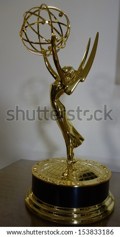 BEVERLY HILLS - JUN 16: Emmy Statues at the 40th Annual Daytime Emmy Awards at The Beverly Hilton Hotel on June 16, 2013 in Beverly Hills, California  - stock photo