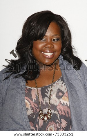 BEVERLY HILLS - MAR 16:  Amber Riley arrives at the 2011 PaleyFest honoring 'Glee' held at the Saban Theater in Beverly Hills on March 16, 2010.