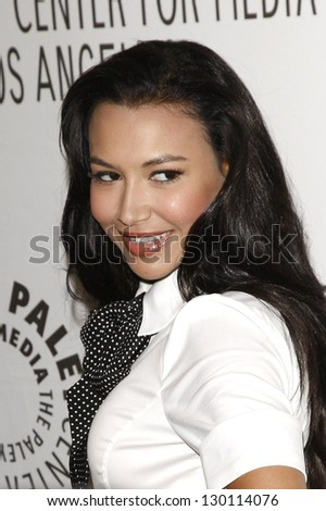 BEVERLY HILLS - MAR 16:  Naya Rivera arriving at the 2011 PaleyFest honoring 'Glee' held at the Saban Theater in Beverly Hills on March 16, 2010.