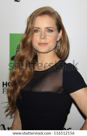 BEVERLY HILLS - OCT 22: Amy Adams at the 16th Annual Hollywood Film Awards Gala at The Beverly Hilton Hotel on October 22, 2012 in Beverly Hills, California - stock photo
