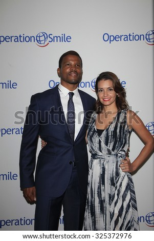 BEVERLY HILLS - OCT 2: Sharif Atkins, Bethany Atkins at the Operation Smile's 2015 Smile Gala  on October 2, 2015 at the Beverly Wilshire Four Seasons Hotel in Beverly Hills, CA. - stock photo