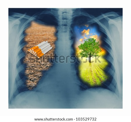 beware no smoking - stock photo