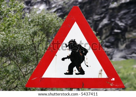 Beware of trolls! - stock photo