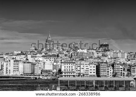 Beyoglu skyline, Istanbul. - stock photo