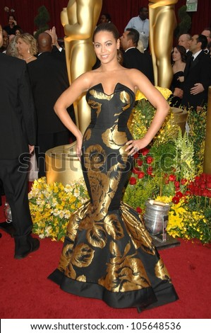 Beyonce Knowles  at the 81st Annual Academy Awards. Kodak Theatre, Hollywood, CA. 02-22-09 - stock photo