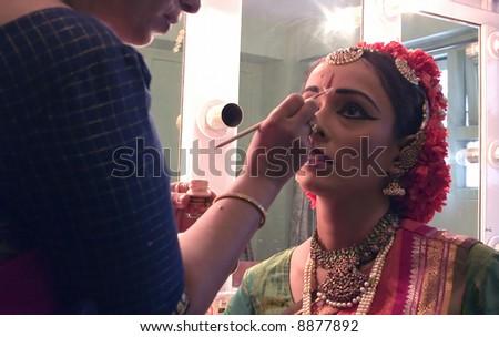 Bharatanatyam Dancer India - stock photo