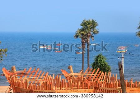 Bhimili beach near Visakhapatnam city in India - stock photo