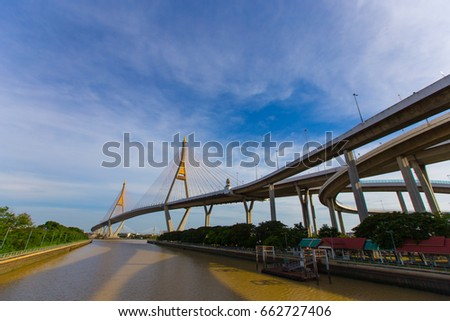 Bhumiphol Bridge in Thailand